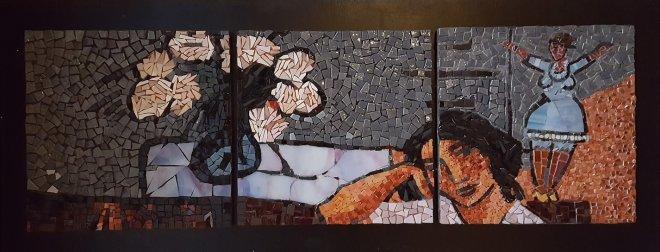 Mosaïque tryptique mosaic