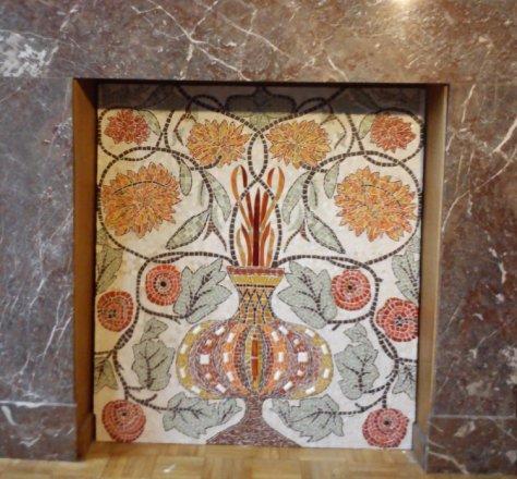 Mosaïque cheminée mosaic