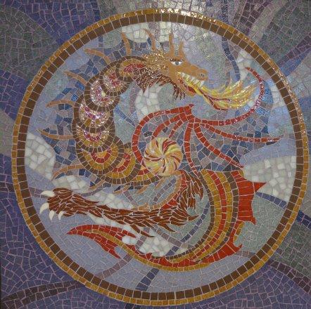 mosaic mosaïque mozaïek dragon