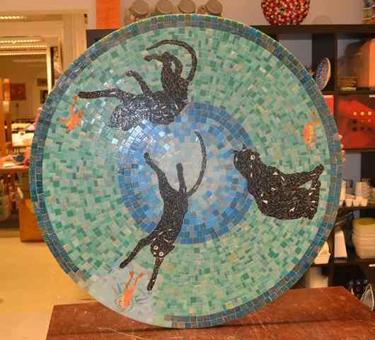 Mosaïque Table mosaic.