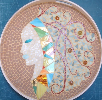 Mosaïque plateau mosaic