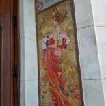 Mosaïque fresque exterieure Art Nouveau mosaic